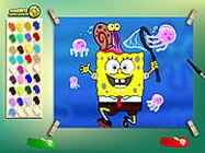 Spongebob with jelly fish ingyen j�t�k